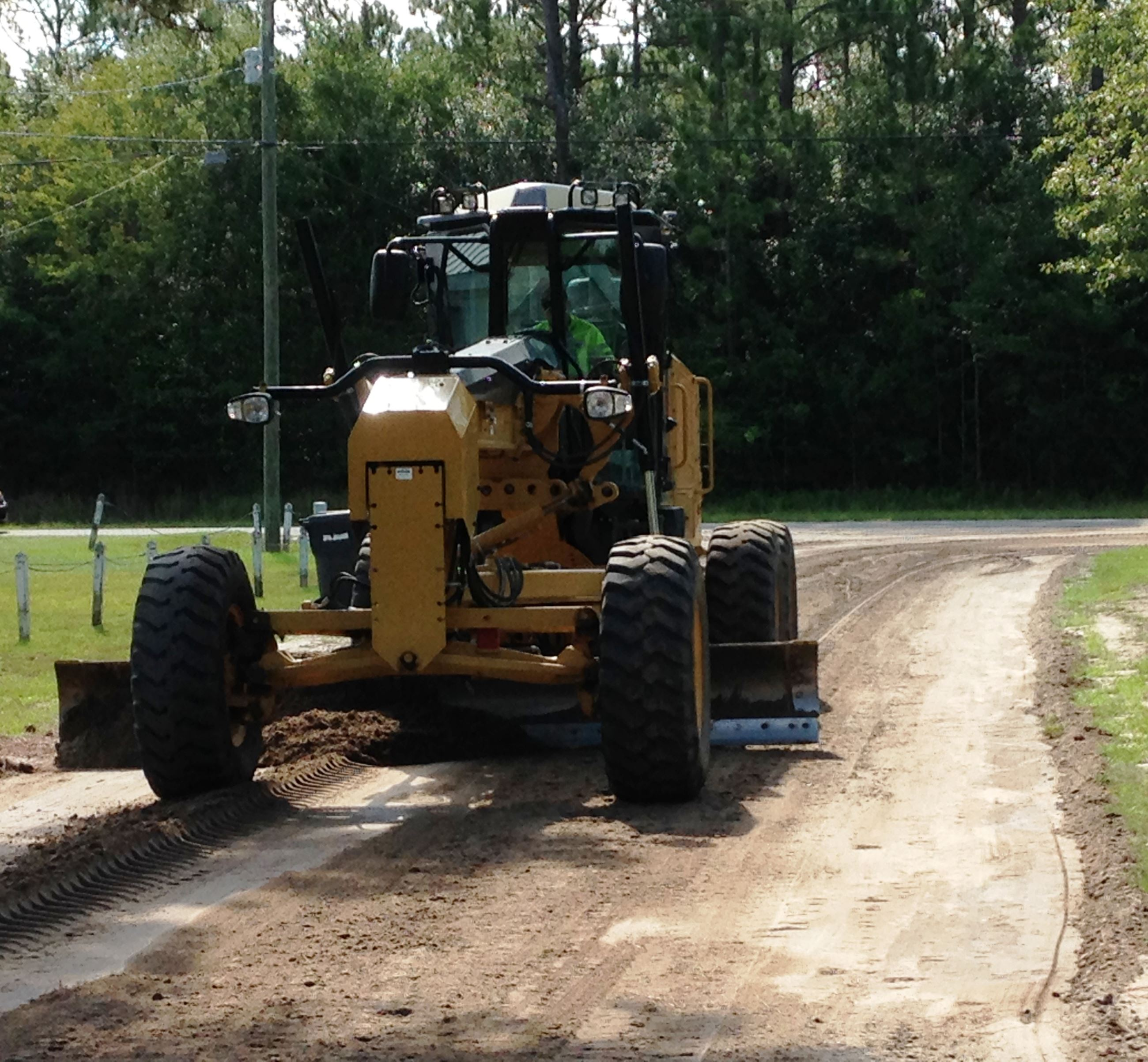 Grader Vehicle Working on Road