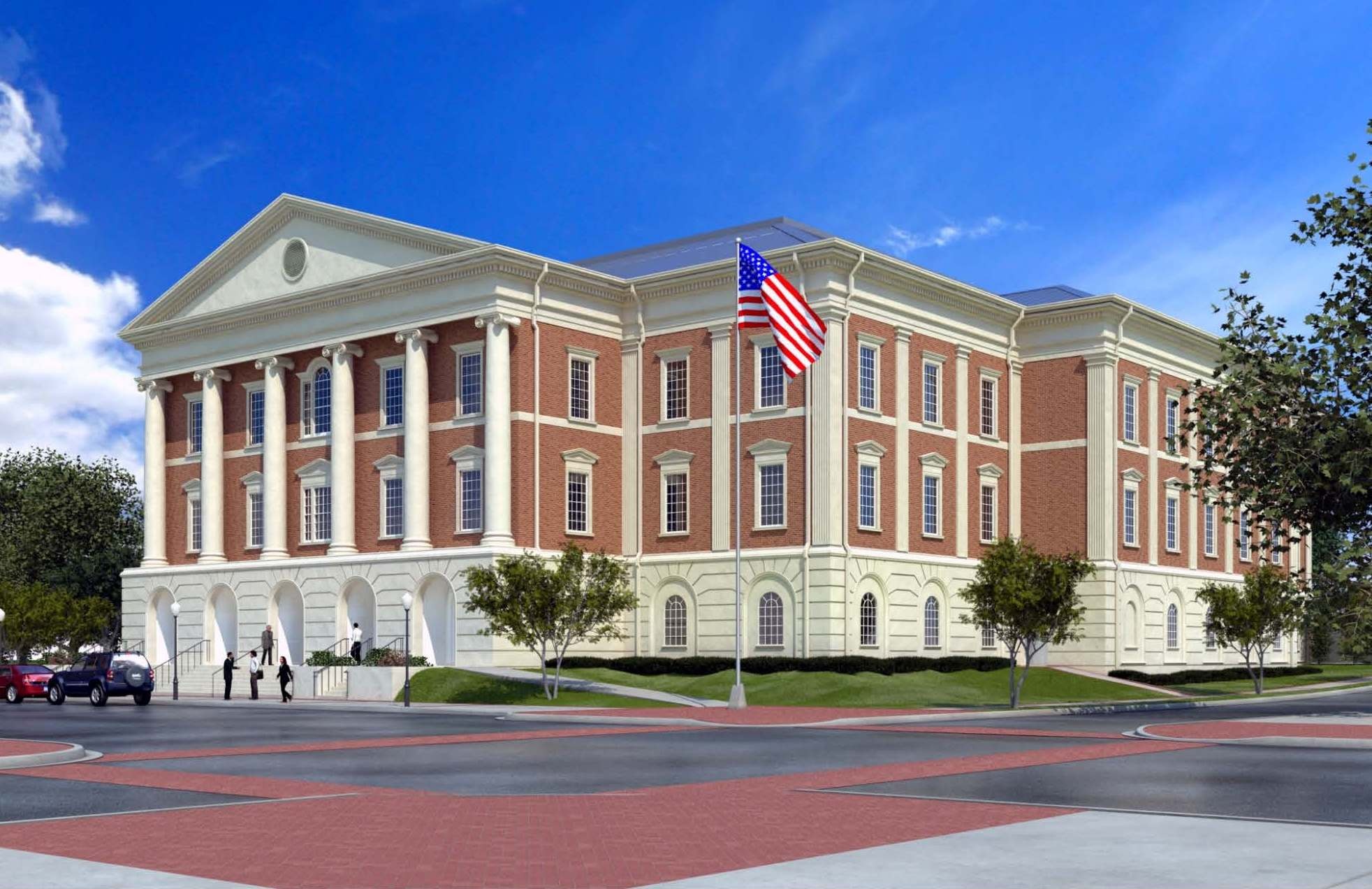 Liberty County Justice Center Concept Rendering